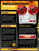 Sound recording studio brochure flyer detailed vector