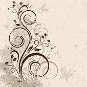Decorative vector background with a branch