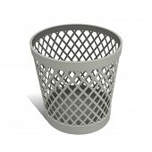 Wastepaper Basket white