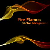 Abstract fire flames vector background.