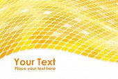 3D golden mosaic wave background.
