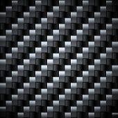Seamless carbon fiber vector texture.