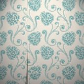 Grunge vintage wallpaper with flower ornament (seamless pattern included)