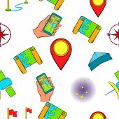Find Way Pattern. Cartoon Illustration Of Find Way Pattern For Web poster