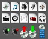 realistic vector media icons #1