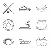 Recreate Icons Set. Outline Set Of 9 Recreate Icons For Web Isolated On White Background poster