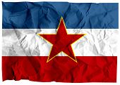 image of former yugoslavia  - The national flag of the former Socialist Federal Republic of Yugoslavia - JPG