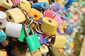 Many Padlocks On The Bridge