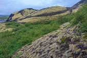 Grabrok Crater Lava Volcano Near Borgarnes, Iceland poster