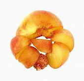 Slices Flat Juicy Round Peach