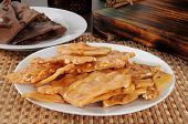 Plate Of Peanut Brittle