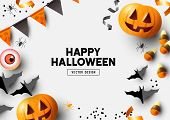Autumn Halloween Composition Background poster