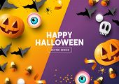 Happy Halloween Frame Background poster