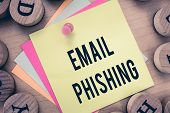 Text Sign Showing Email Phishing. Conceptual Photo Emails That May Link To Websites That Distribute  poster