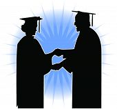 Silhouette of a Graduation ceremony