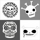 clipart skulls