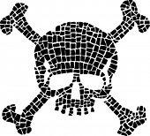 black fractured skull