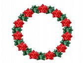 foto of christmas wreath  - christmas wreath made out of bows - JPG