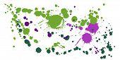 Graffiti Spray Stains Grunge Background Vector. Abstract Ink Splatter, Spray Blots, Mud Spot Element poster