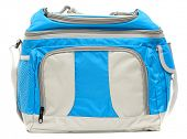 Blue cooler bag isolated