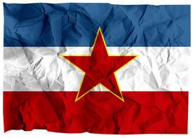 stock photo of former yugoslavia  - The national flag of the former Socialist Federal Republic of Yugoslavia - JPG