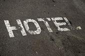 Hotel Sign On Street