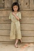 Girl Of Laos In Dirty Clothes