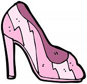 cartoon high heel shoe