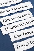 picture of insurance-policy  - Headline of Insurance Policy Life; Health car travel home for background