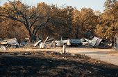 CREEK COUNTY, OKLAHOMA - AUGUST 6 2012: a home burned down in wildfires that destroyed approximately
