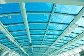 Glass ceiling of the airport Santos Dumont in Rio de Janeiro