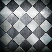 patrón de rejilla metálica