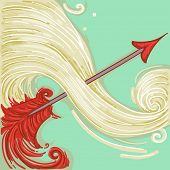Illustration of Red Arrow for Sagittarius Design