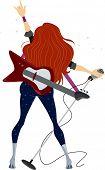 Abbildung zeigt wieder Blick auf ein Rockstar-Teenager-Mädchen