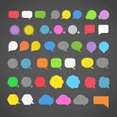 abstract color speech clouds silhouettes