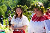 VINNICI, LENINGRAD REGION, RUSSIA - JUNE 10: Local people during celebrate the annual holiday Vepsia