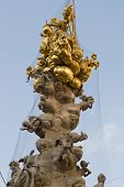 foto of leopold  - the famous pest column located in the first district of Vienna am graben near the st Stephens cathedral - JPG