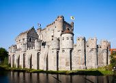 The Gravensteen, a famous castle in Ghent, Belgium