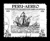 Expedição de descoberta do Colombo travessia atlântica