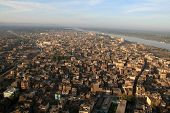 Luxor And The River Nile - Elevated View