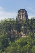 stock photo of winona  - A limestone rock formation on top of a hill - JPG
