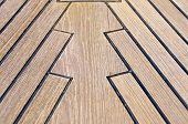 Sailboat Bow, Wood Deck Detail, Italy