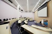 MOSCOW - AUG 20: Auditorium Singapore 1 for 60 people and 146 sq.m. in Singapore cluster of Moscow S