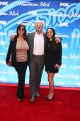 LOS ANGELES - MAY 16:  Stella Arroyave, Anthony Hopkins and Niece arrives at the American Idol Seaso