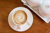 Coffee On Wood Top View