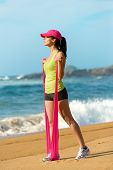 Fitness Woman With Resistance Band