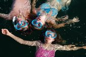 3 Kids In Swimming Masks  Floating