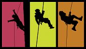 Abseiling Silhouttes