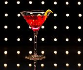 foto of cosmopolitan  - cosmopolitan cocktail on the disco dance floor - JPG