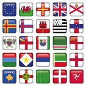 Set of European Square Flag Icons